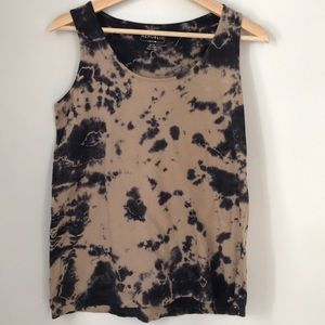 For The Republic Denim Cotton Tie Dye Tank XS
